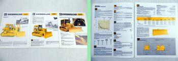 CAT Caterpillar Kettendozer D4E D6D D7H 3 Prospekte Technische Daten