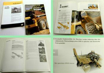 2 Prospekte CAT Caterpillar knickgelenkter Muldenkipper D250E 1990er