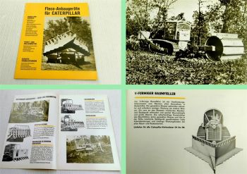 1 Prospekt Fleco Anbaugeräte für CAT Caterpillar 1970er Jahre