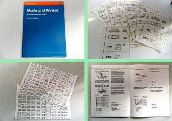 VW Audi Maße und Winkel Datensammlung und Zeichenhilfe Broschüre
