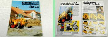 1 Prospekt Kramer Allrad 312LE Kompaktader 54PS vierradgelenkt 1993