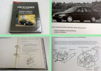 Honda Accord Schulungshandbuch Technik Daten Kundendienst Service 1993