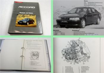 Honda Accord 93 Schulungshandbuch Technik Daten Kundendienst Service 1992