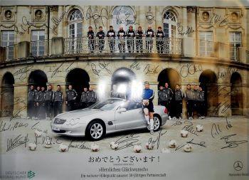 Mercedes Benz DFB ELF Fußball Deutsche Nationalmannschaft Poster
