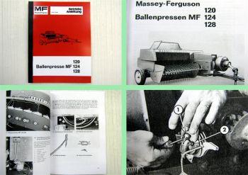 Massey Ferguson MF 120 MF 124 MF 128 Ballenpresse Betriebsanleitung