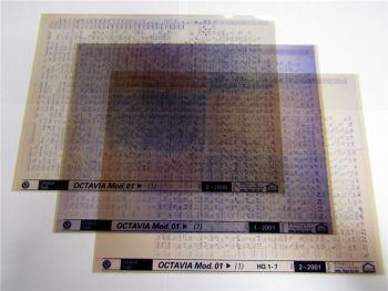 3 Stück Skoda Octavia ab 2001 Ersatzteilkatalog Microfiche 2000/2001