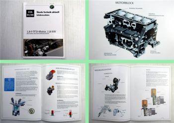 Skoda 1,8-l-TFSI-Motor, 118 kW Infobroschüre  Mechanik und Motormanagement