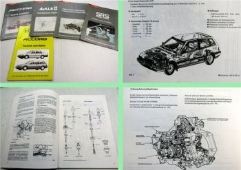 Honda Accord Technik und Daten Automatikgetriebe SRS ABS 1985 - 1989 5 Hefte