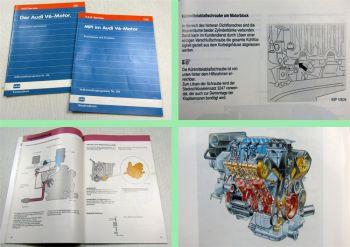 SSP 128 130 Audi 100 V6 Motor 174PS Konstruktion + Funktion 1990