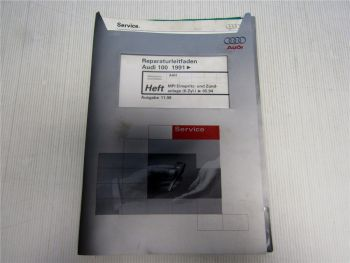 Reparaturleitfaden Audi 100 C4 (4A) MPI Einspritz- und Zündanlage AAH 1998