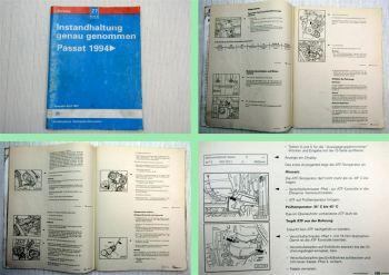 Reparatur VW Passat B4 1994 Instandhaltung Werkstatthandbuch 97