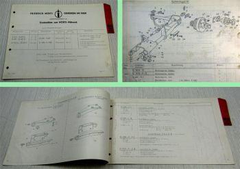 Mörtl Mähwerk G-MK-Y4D G-MK-A-Y4D für Güldner Schlepper Ersatzteilliste 1967
