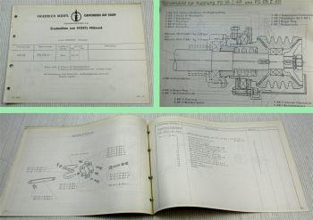 Mörtl Mähwerk FG65K  für Massey Ferguson Schlepper MF65 Ersatzteilliste 1965