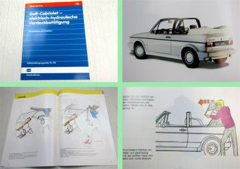 SSP 118 VW Golf I Cabriolet Verdeck Schulungshandbuch Konstruktion Funktion