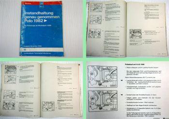Reparaturleitfaden VW Polo 86C ab 1986 Instandhaltung Werkstatthandbuch 1993