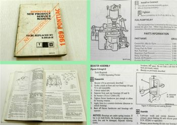 GM General Motors Pontiac Bonneville Service Manual preliminary service info 89