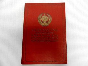 Verfassung Grundgesetz Der Union der Sozialistischen Sowjetrepubliken 1947