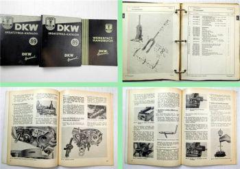 DKW Hummel Moped + Hummel Super Werkstatthandbuch Ersatzteilkatalog 1956/57