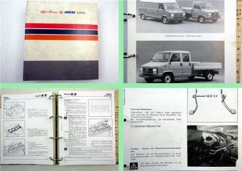 Fiat Ducato Baureihe 1986 Werkstatthandbuch Reparaturanleitung auch 4x4