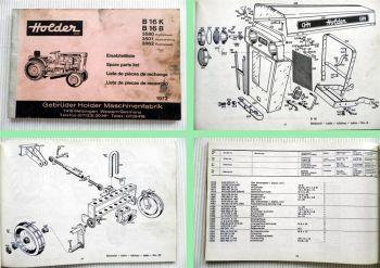 Holder B16 K / B16 B Kommunal Schlepper Ersatzteilliste Spare Parts List 1972