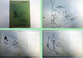 Clark CM12 Hydraulischer Hand-Gabelhubwagen Bedienungsanleitung Ersatzteilliste