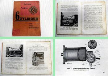NSU Serie IV / 3001-4000 1,8 Ltr 6 Zylinder Betriebsanleitung Beschreibung 1929