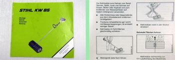 Stihl KW85 Kehrwalze Bedienungsanleitung Betriebsanleitung Wartung 2000