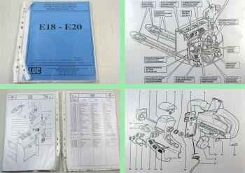 LOC E18 E20 Hubwagen Betriebsanleitung Bedienung Ersatzteilliste Parts List