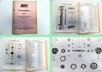 Agria 1300 Spezial-Motormäher Ersatzteilliste 50/3 Ersatzteilkatalog 1958