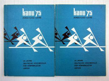 Kanusport Kanu 75 Forschungslehre Körperkultur Leipzig Band I und II