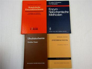 4 Bücher Enzymdiagnostik Enzymhistochemie Ultrahystochemie Methoden