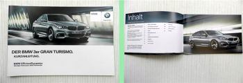 BMW 3er Gran Turismo F34 Bedienung Kurzanleitung 2013