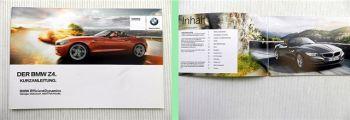 BMW Z4 E89 Bedienung Kurzanleitung 2013
