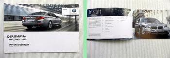 BMW 5er F10 Bedienung Kurzanleitung 2014
