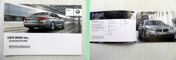 BMW 5er F10 Bedienung Kurzanleitung 6.2013