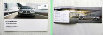 BMW 5er F10 Bedienung Kurzanleitung 2011