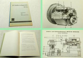 ZF BW55H30 BW55HS30 Schiffsgetriebe Bedienungsanleitung Betriebsanleitung