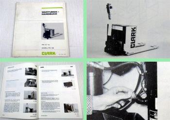 Clark PW 15 / 18 Modell PW186 Stapler Werkstatthandbuch Wartung 1981