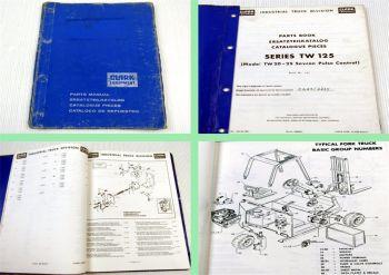 Clark Series TW125 Stapler Ersatzteilkatalog Spare Parts List Catalogue Pieces