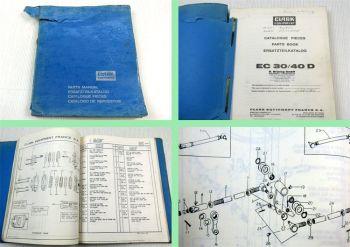 Clark EC30/40D Stapler Ersatzteilliste Parts List Catalogue Pieces 1970er Jahre