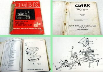 Clark ECE-2024 36V Gabelstapler Ersatzteilkatalog Ersatzteilliste Parts list