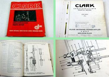 Clark ECE-2024 80V Gabelstapler Ersatzteilkatalog Ersatzteilliste Parts list