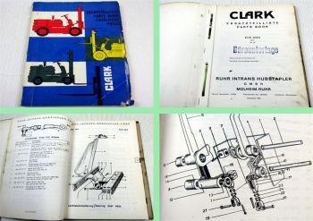 Clark ECE 2024 36V Gabelstapler Ersatzteilkatalog Ersatzteilliste Parts list 63