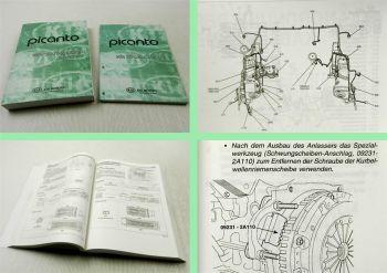 Reparaturhandbuch Kia Picanto 2006 Ergänzung Diesel 1,1 Liter + Schaltpläne