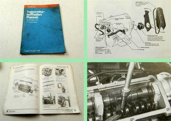 Werkstatthandbuch VW Passat Typ 32b B2 1,3 L Vergaser Motor FY FZ