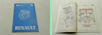 Renault 19 Motoren Benzin E6J Reparaturhandbuch Werkstatthandbuch 1990
