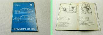Renault 21 25 Werkstatthandbuch Reparaturhandbuch Kraftstoffeinspritzung