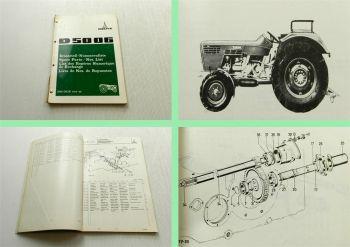 Deutz D 5006 Traktor Schlepper Ersatzteilliste 1972 Original