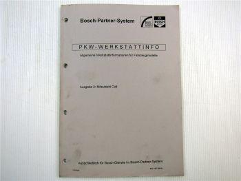 Mitsubishi Colt Bosch Dienst Elektrische Anlage Einstellwerte