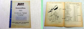 Agria Ersatzteilliste für Mähwerke 1546 - 1646, 2546 - 2646 von 1965
